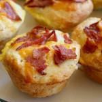 Muffins de queso y jamón