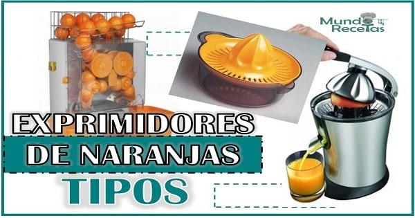 tres tipos de exprimidores de naranjas